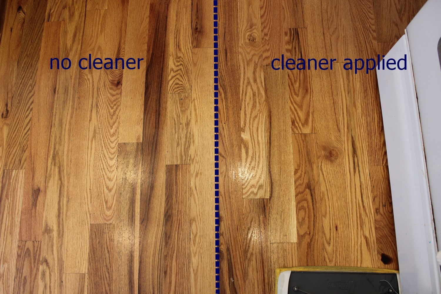 DIY Wood Floor Cleaner - apply to floor