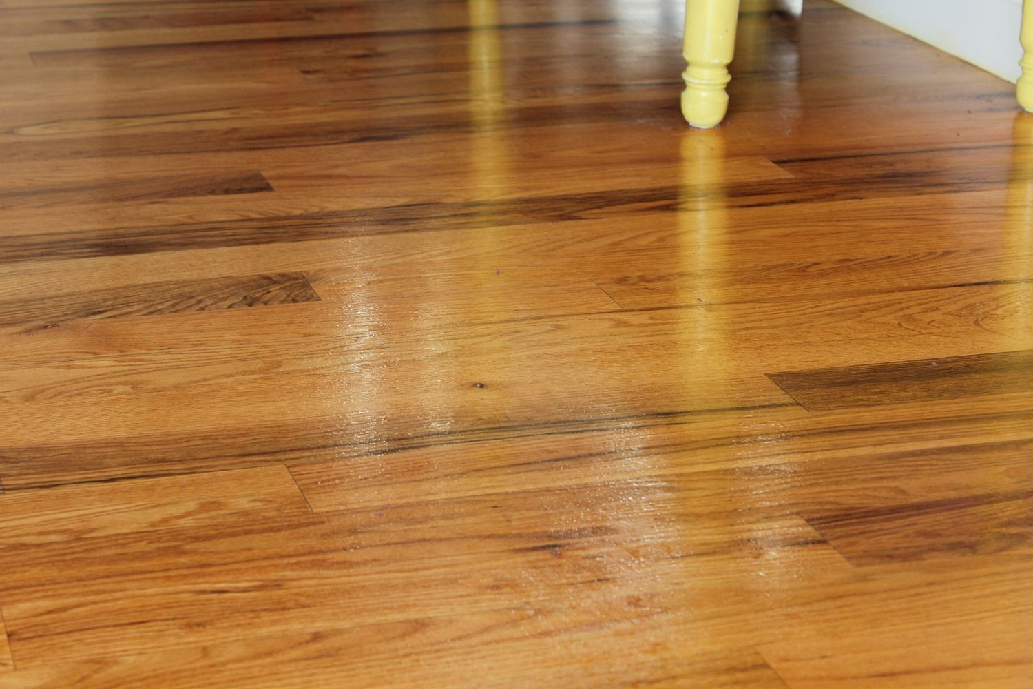 DIY Wood Floor Cleaner - let it dry