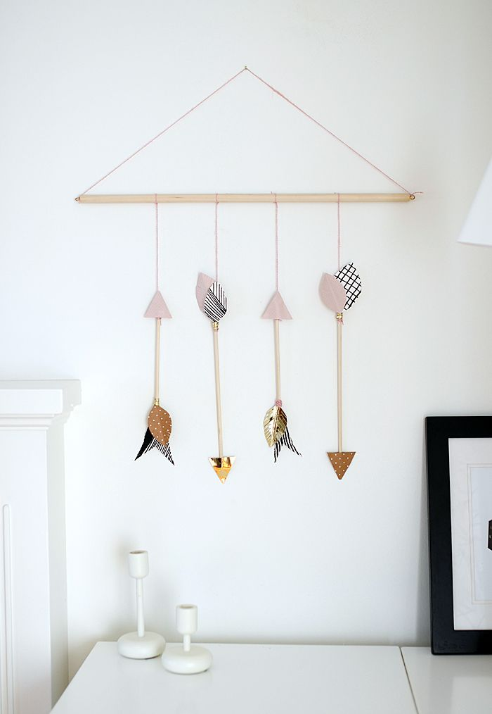 DIY arrows hanging