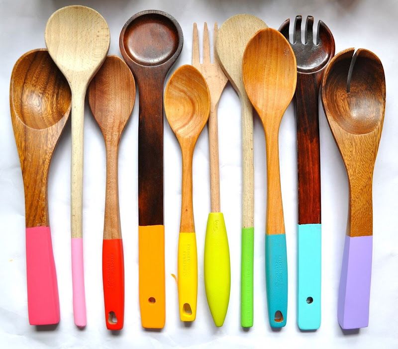 DIY dipped flatware