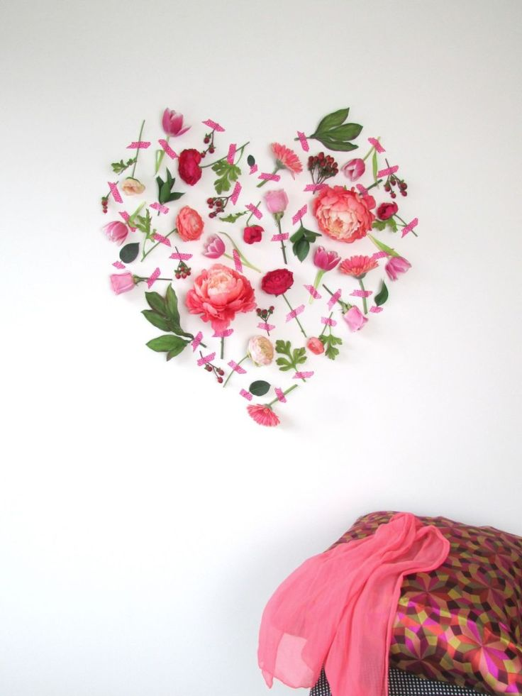 DIY flower heart