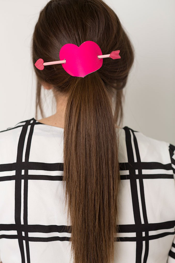 DIY heart hairpiece
