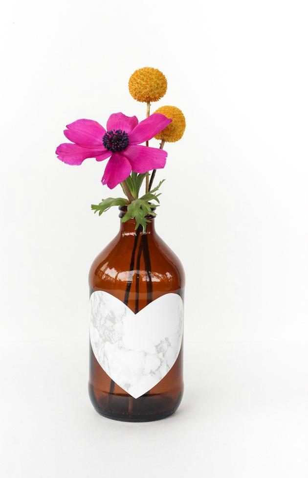 DIY heart vase
