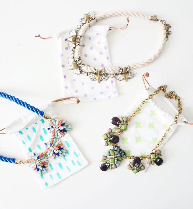 DIY jewelry travel pouch