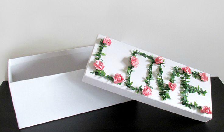 DIY love memory box
