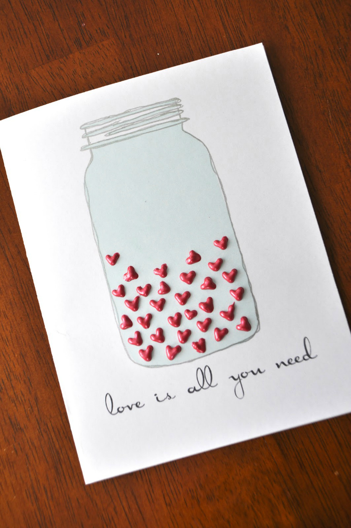 Diy valentines day cards for your husband your mom and everyone else diy mason jar card m4hsunfo