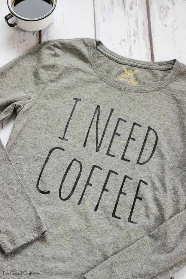 DIY need coffee shirt