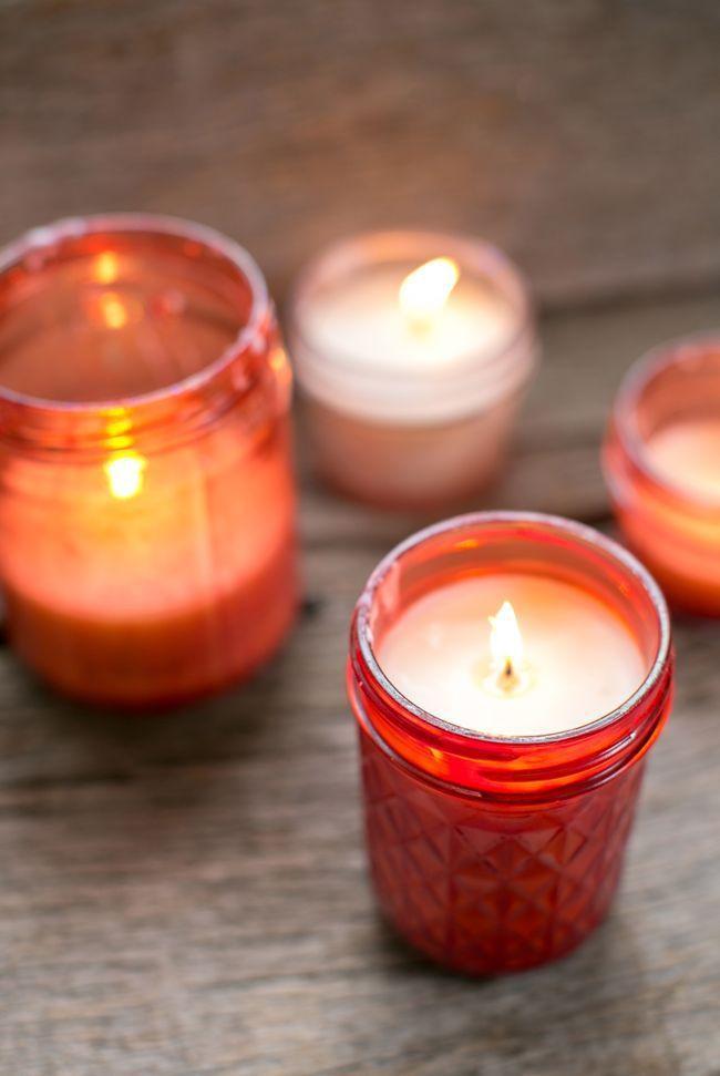 DIY pink candles