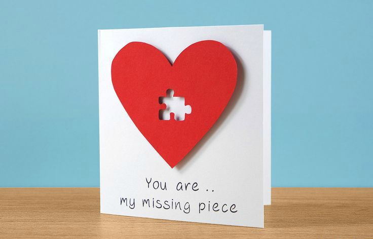 diy puzzle piece card