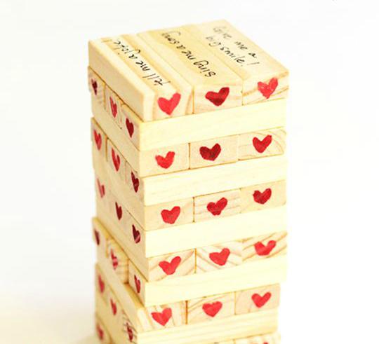 DIY valentine jenga
