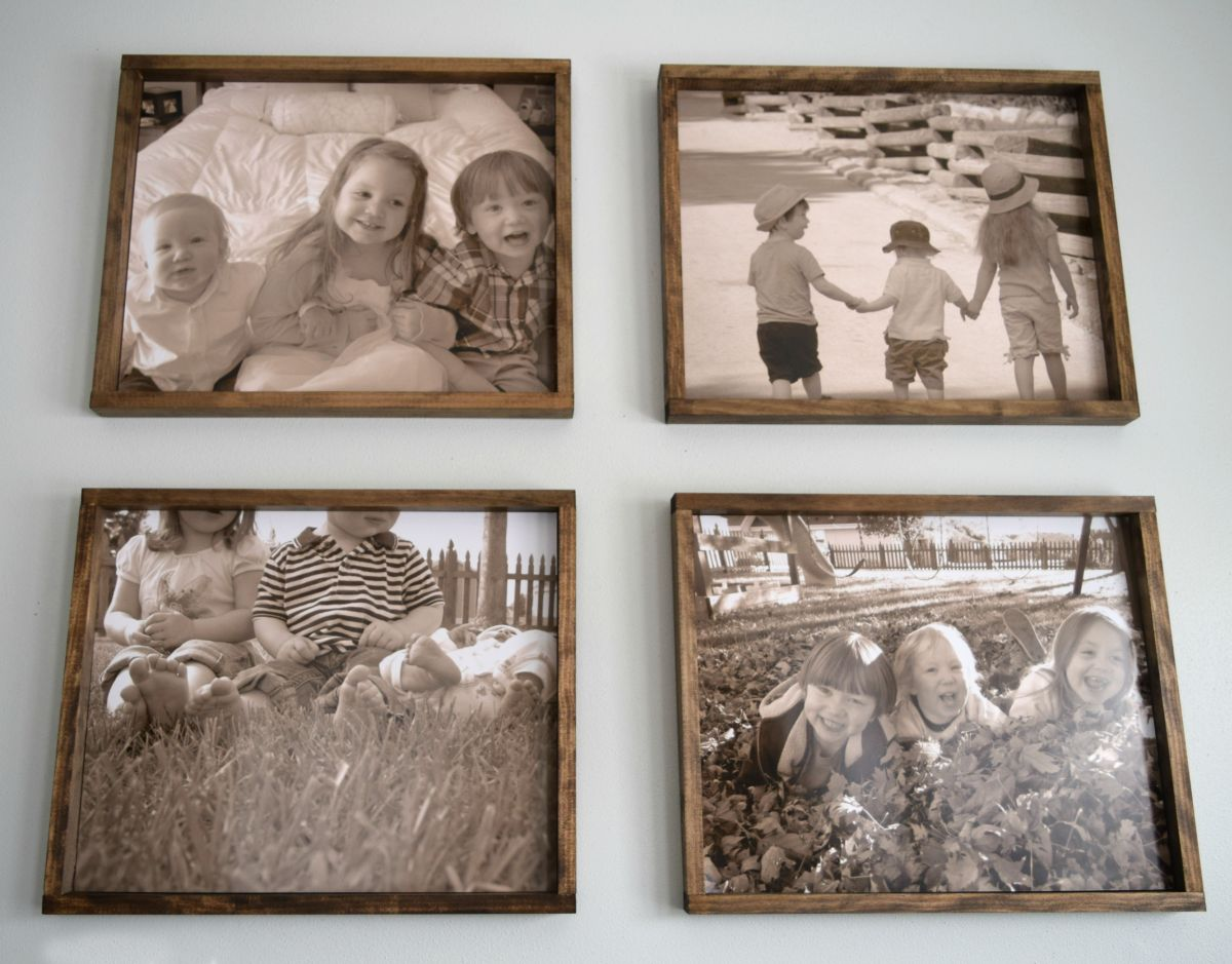 DIY wood family pictures