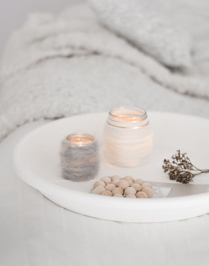 DIY wool candleholder