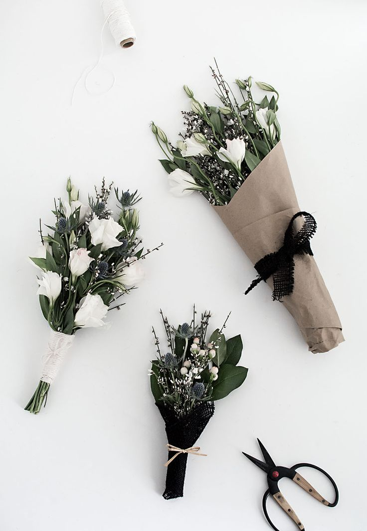 DIY wrapped flowers