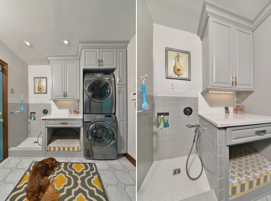 Design laundry room furniture around the washer and dryer