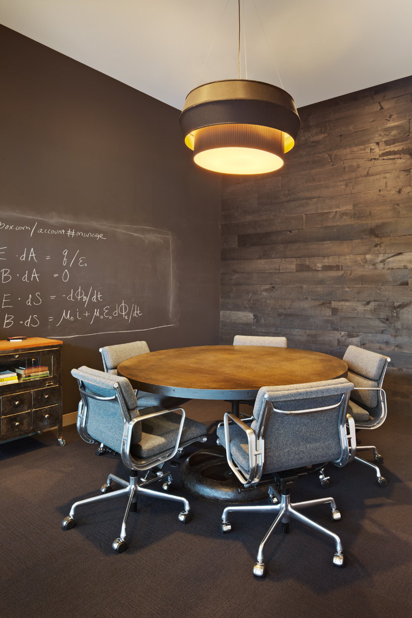 Dropbox HQ meeting room with chalk paint