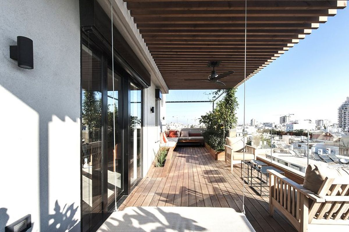 Duplex penthouse with roof terrace gets a graphical redesign for In the terrace