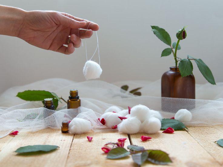 Essential oil cotton balls