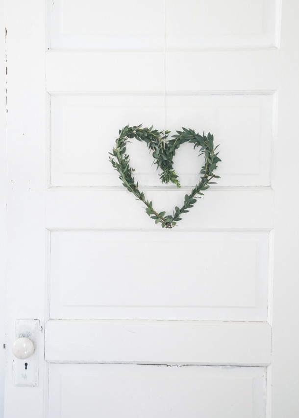 Eucalyptus heart wreath