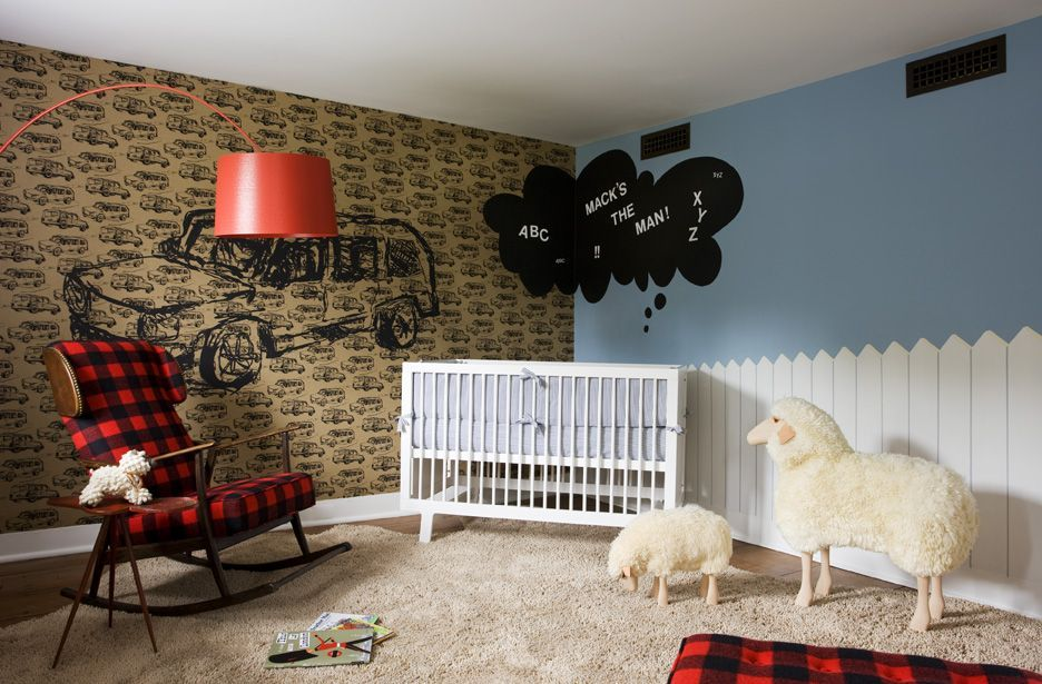 Farm inspired nursery room