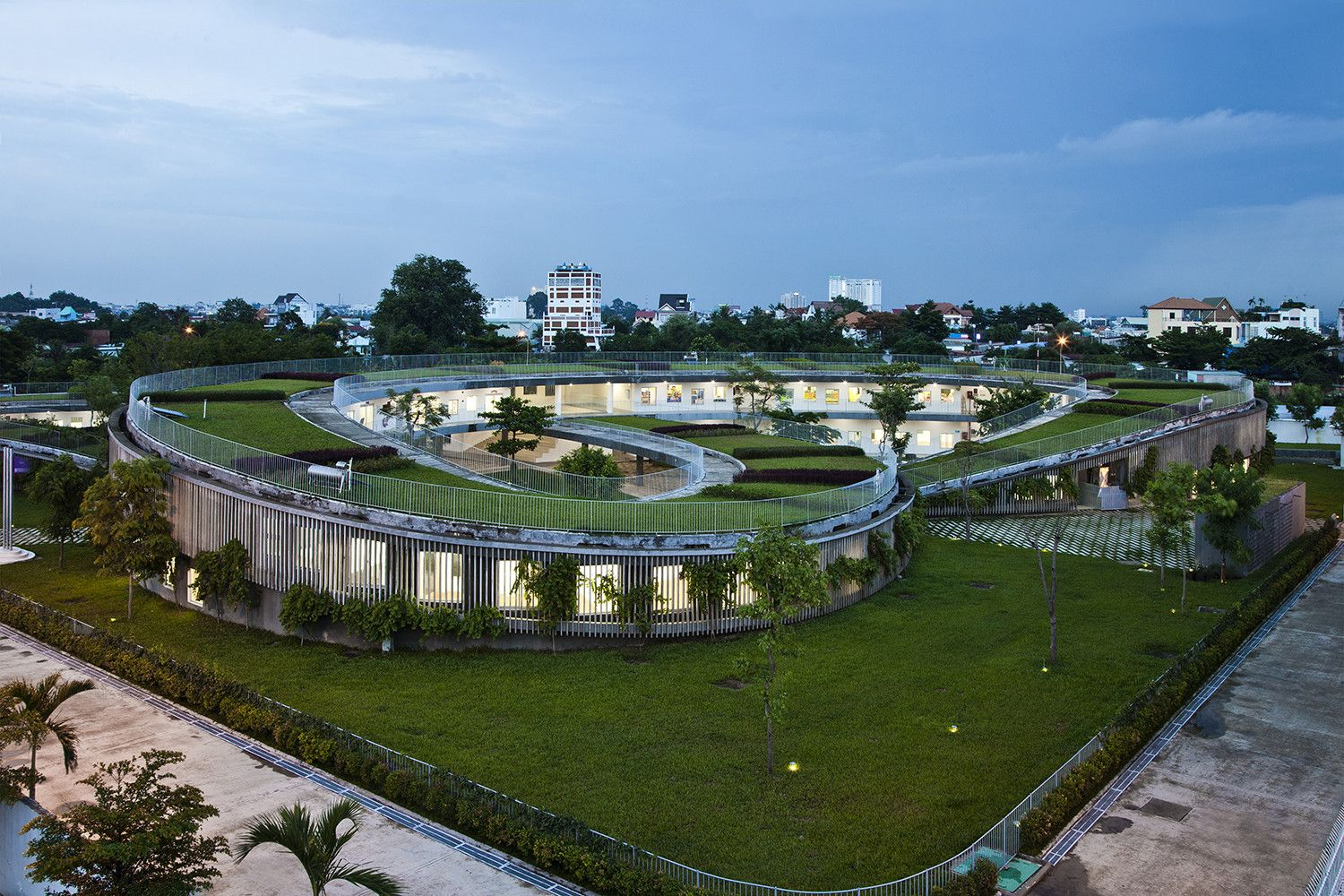 Farming Kindergarten by Vo Trong Nghia Architects Angle