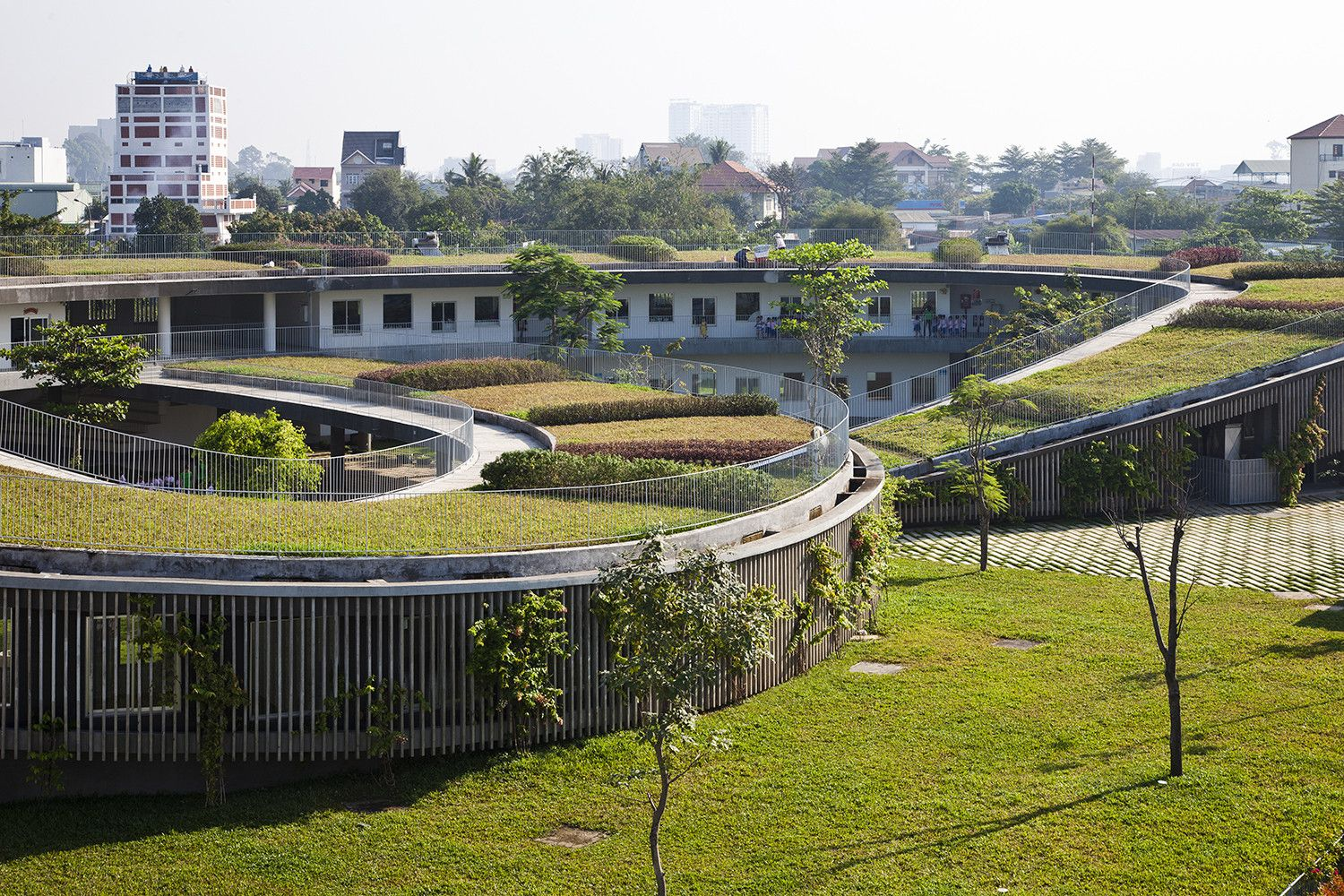 Farming Kindergarten by Vo Trong Nghia Architects Green Roof