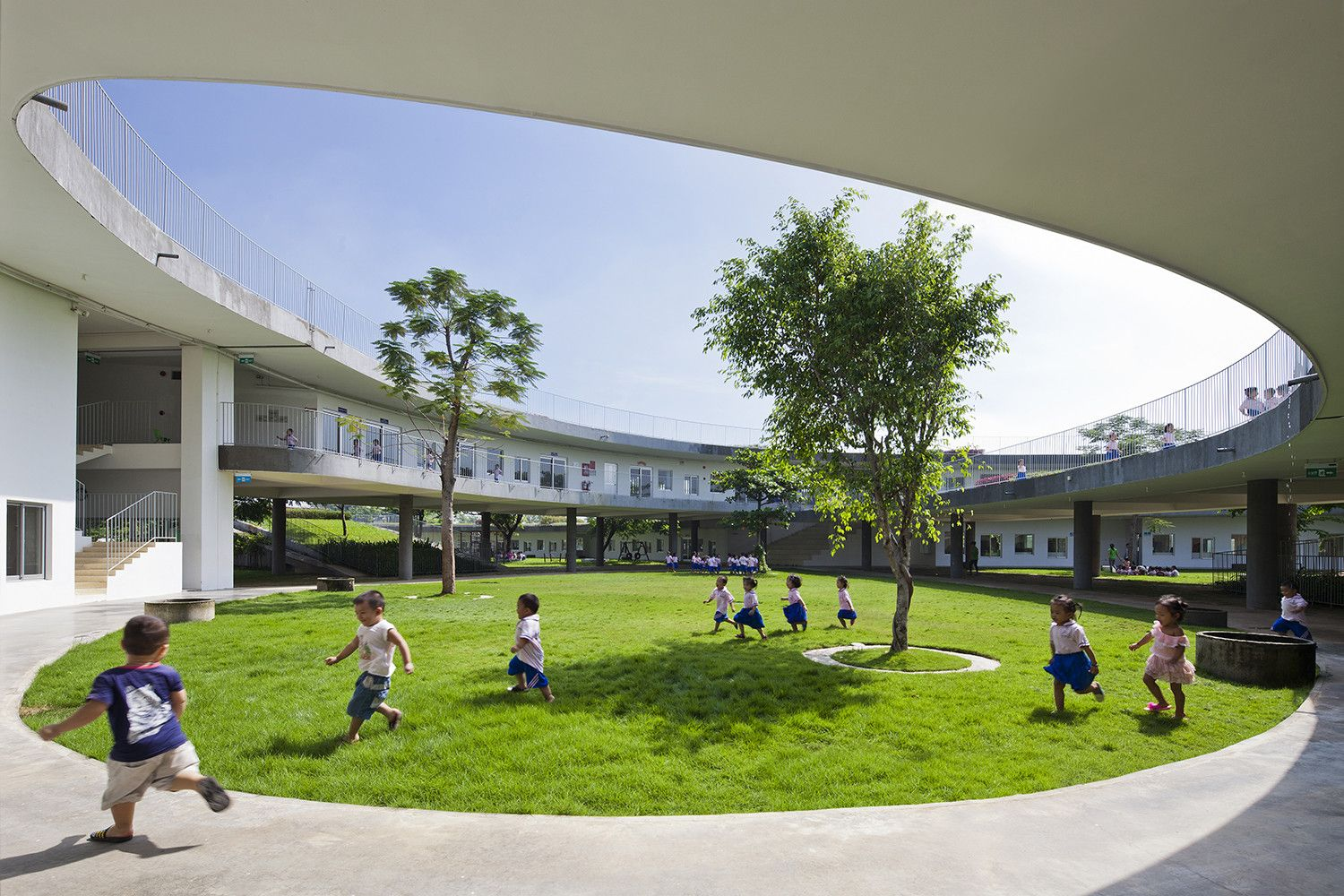 Farming Kindergarten by Vo Trong Nghia Architects Interior