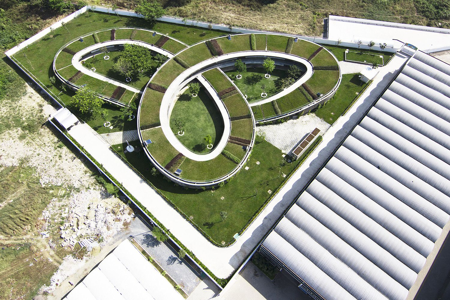 Farming Kindergarten by Vo Trong Nghia Architects Top View