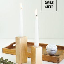 Faux Bois Candle Sticks