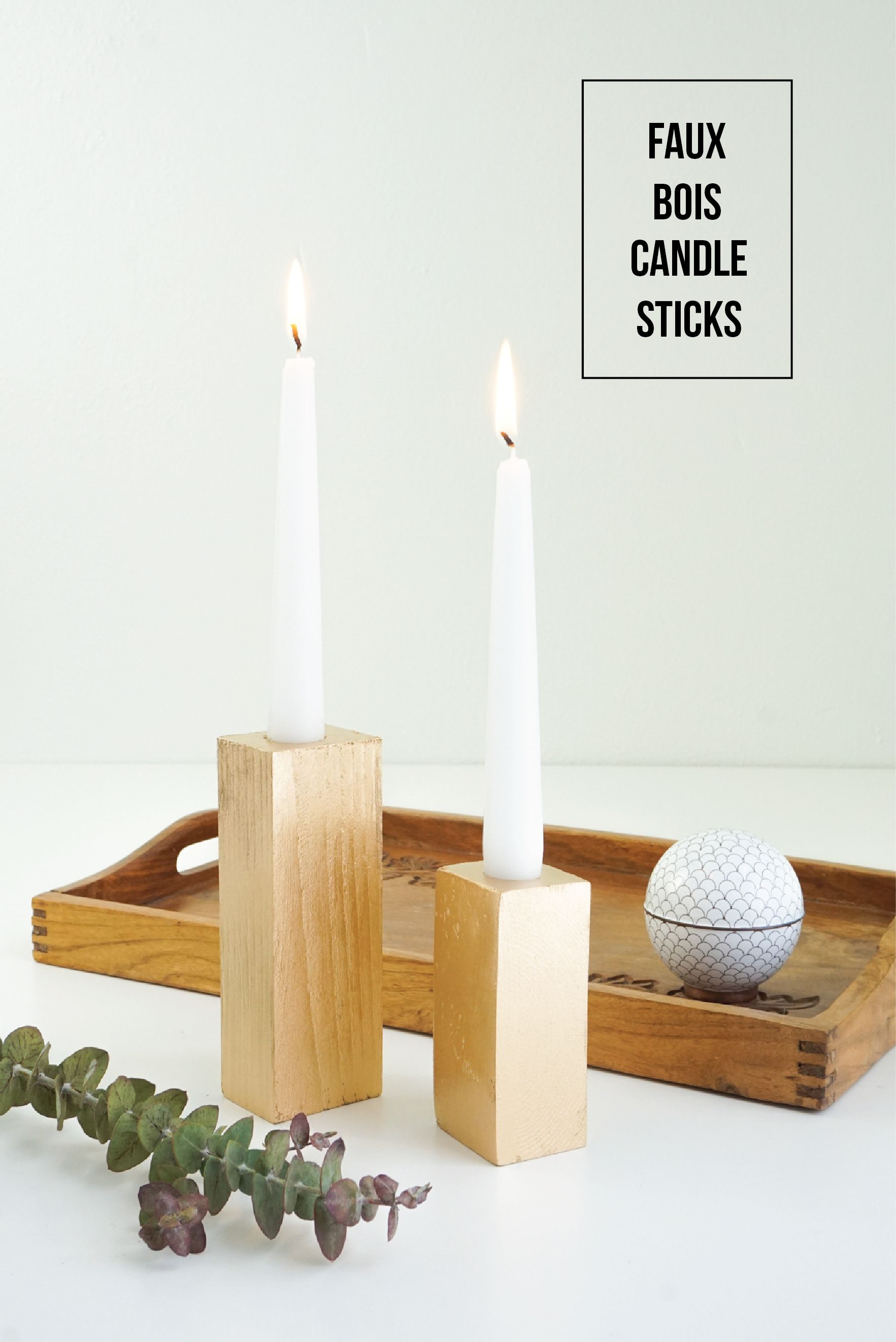 Faux Bois Candle Sticks Project