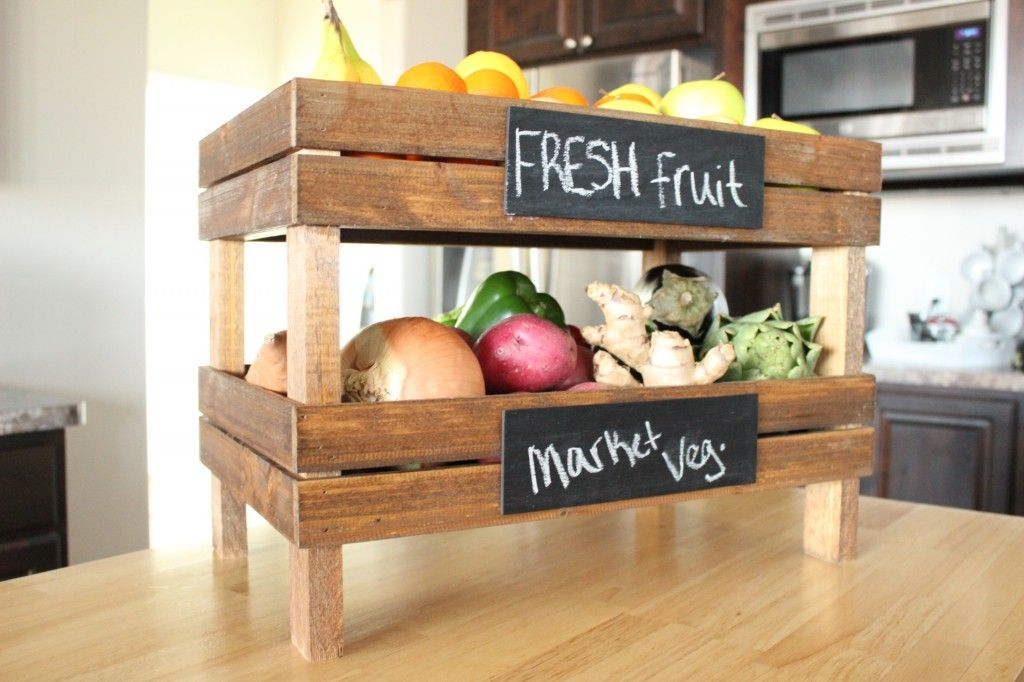 handmade wood decor fruit and veggie holder woodworking home Fruit u0026 Veg Stand
