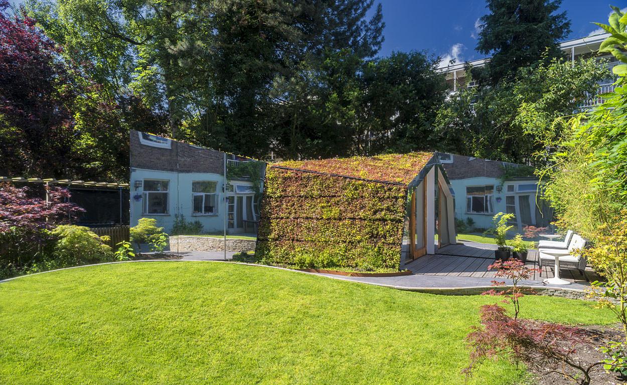 Garden studio in Amsterdam Watergraafsmeer Angle