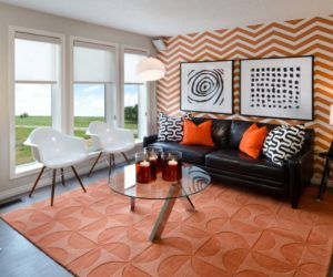 ... Fall Into Orange: Living Room Accents For All Styles