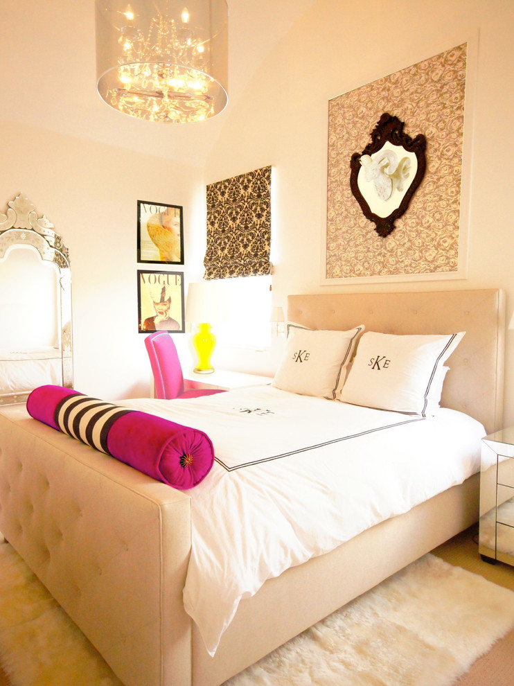 Glamorous Bedroom With Monogram Bedding