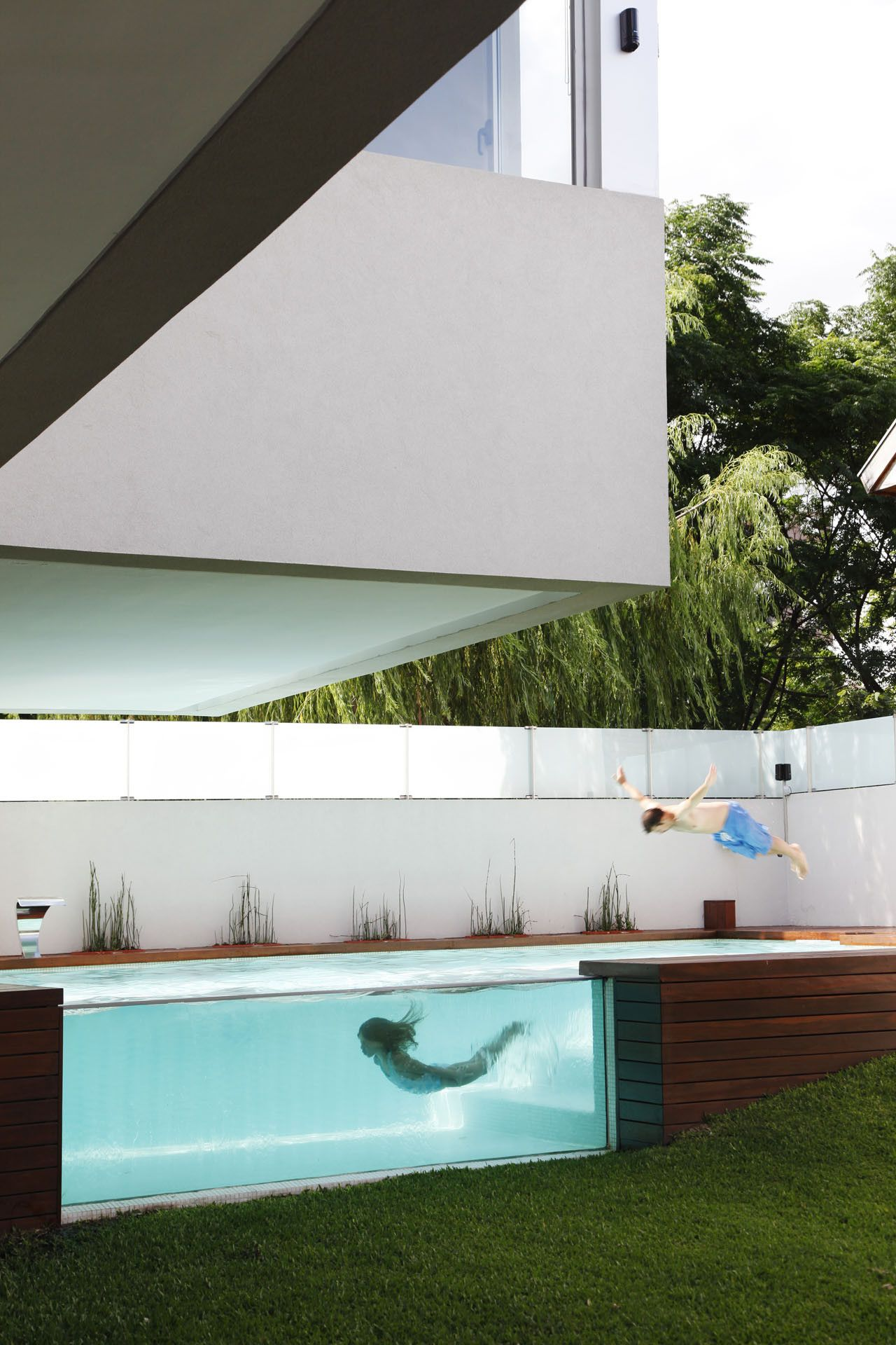 Glass Swimming Pool In Devoto House By Andres Remy Arquitectos