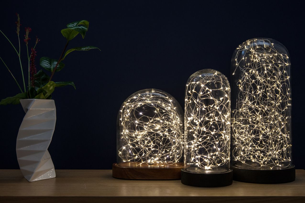 Glowing Cloche Lighting