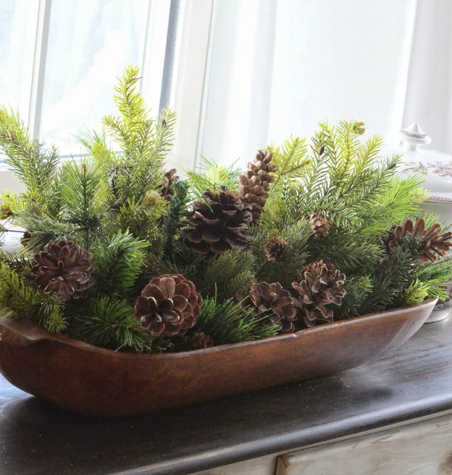 Greenery in bowls