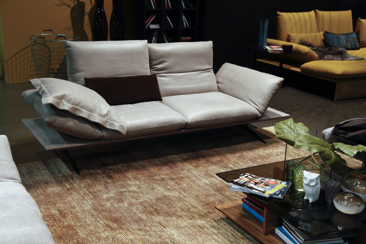 Modern Grey Leather sofa