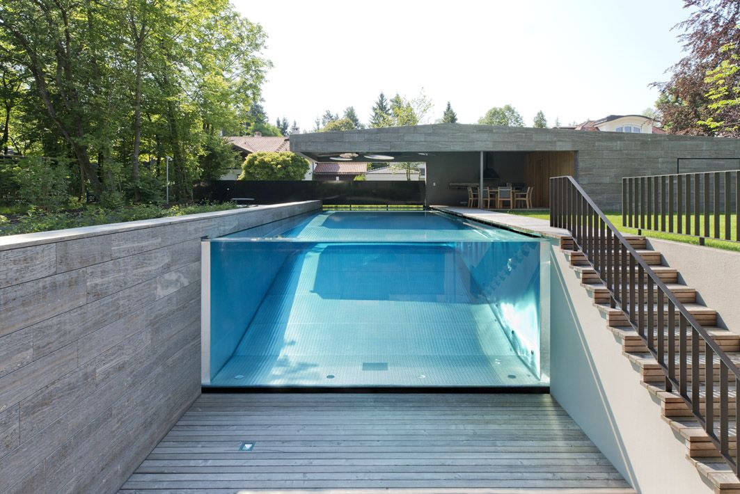 Indoor pool einfamilienhaus  See-Through Swimming Pools Reveal A World Full Of Surprises