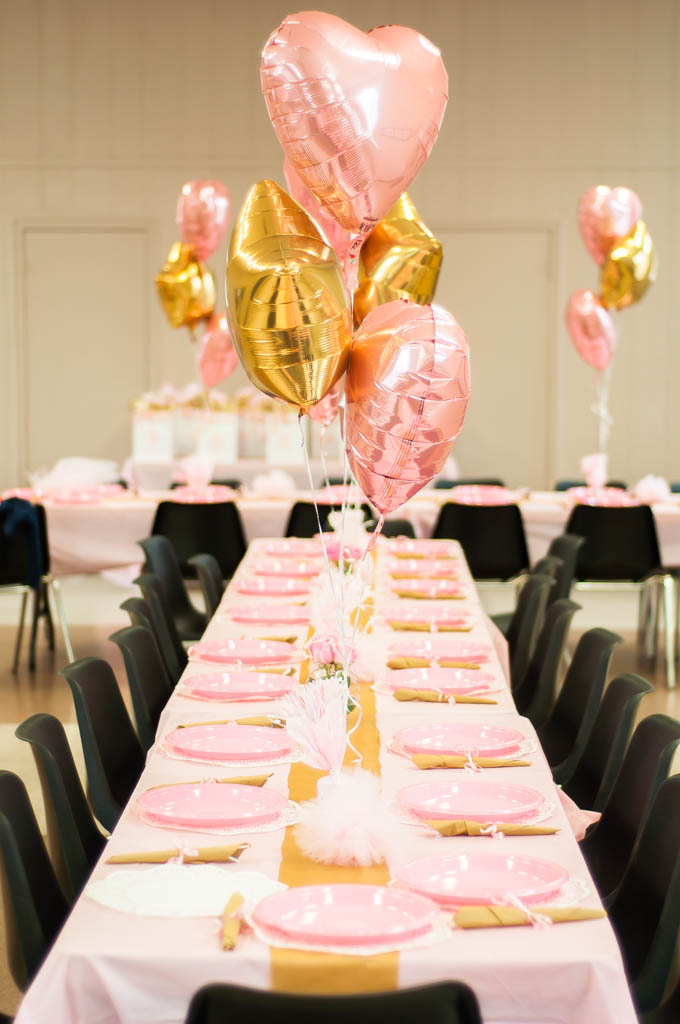 Heart balloon centerpiece