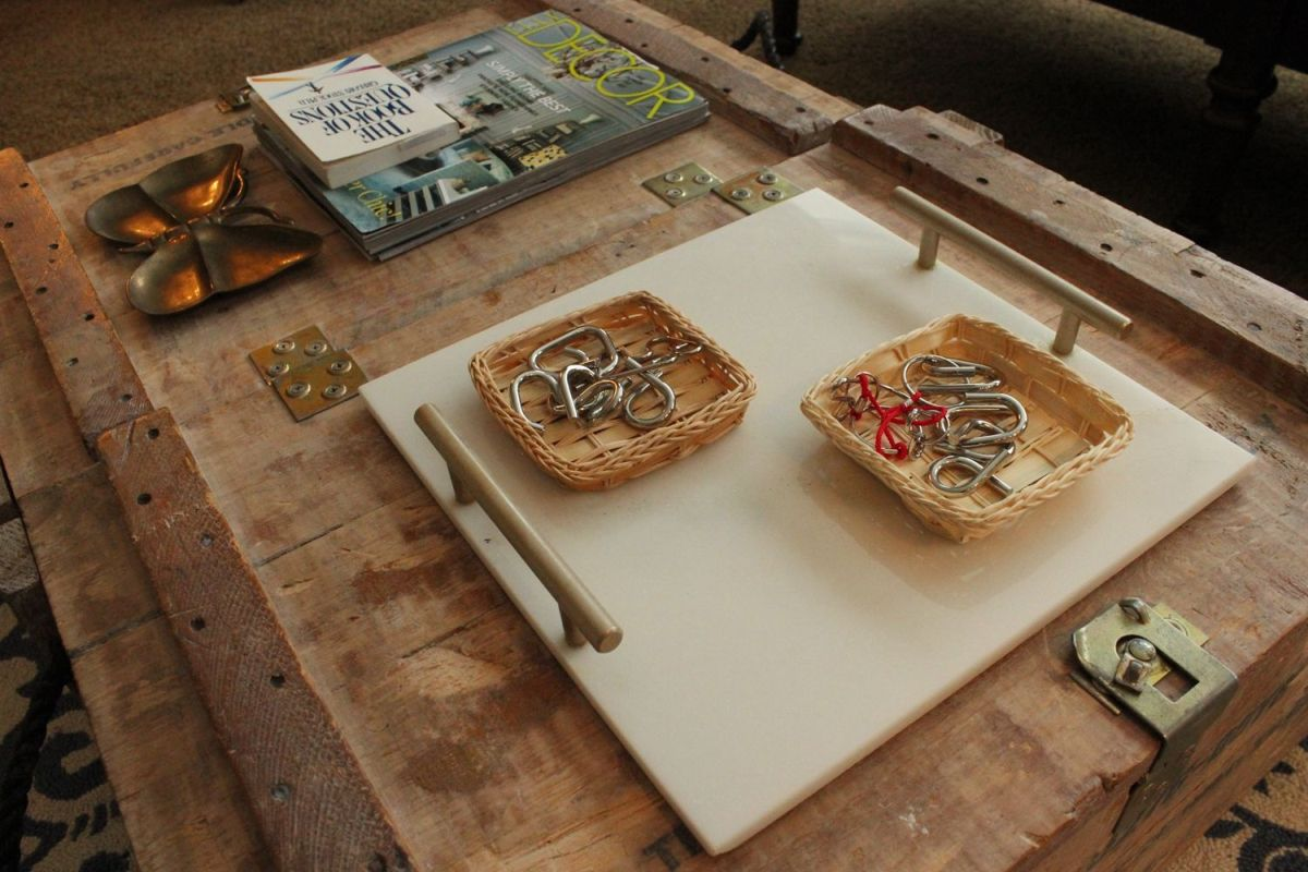 How to style a coffee table - marble tray