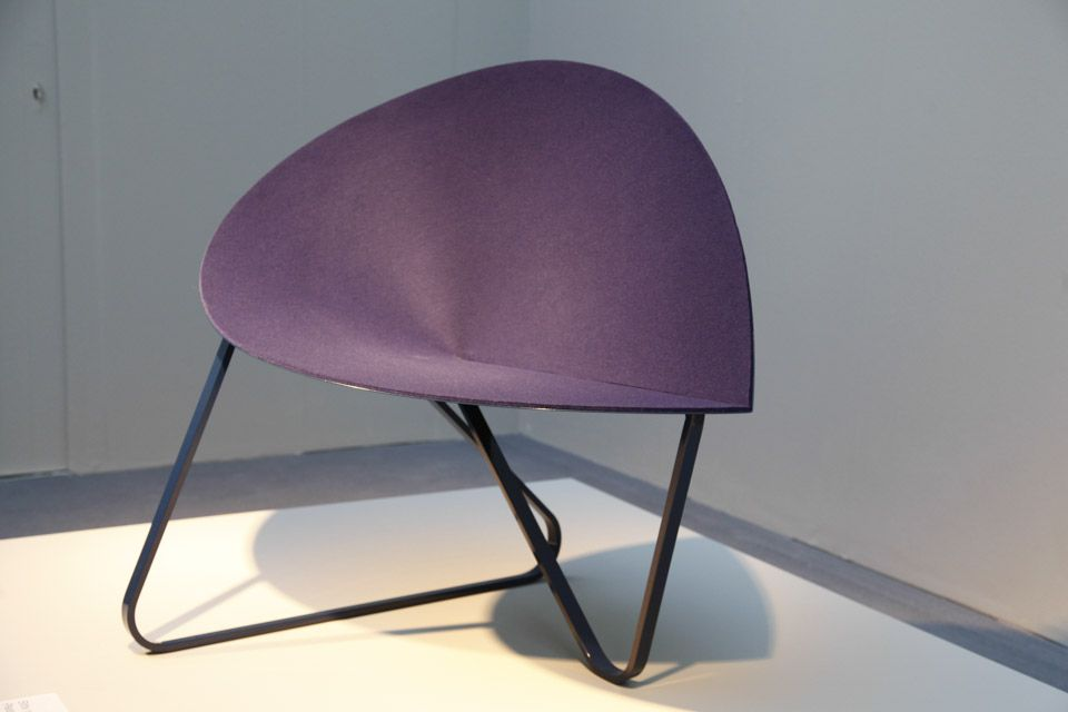 Curved Puple Chair