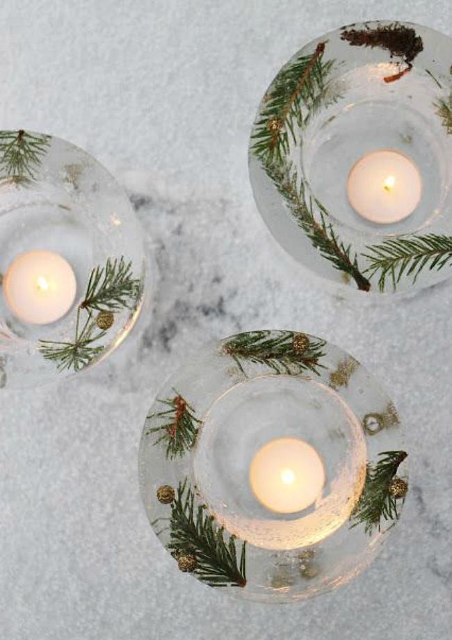 Ice lantern candles