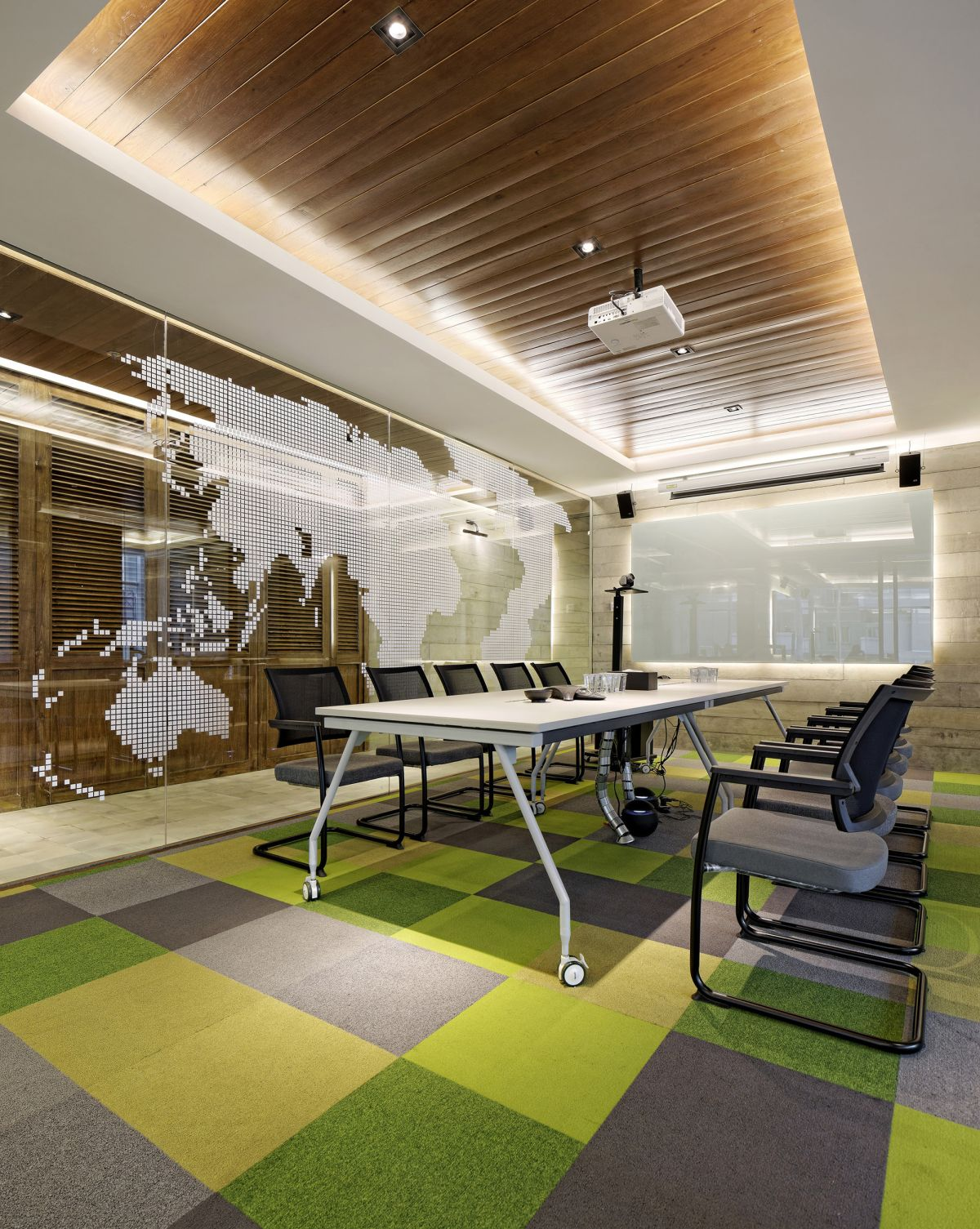Inspiring office meeting rooms reveal their playful designs for Meeting room interior design ideas