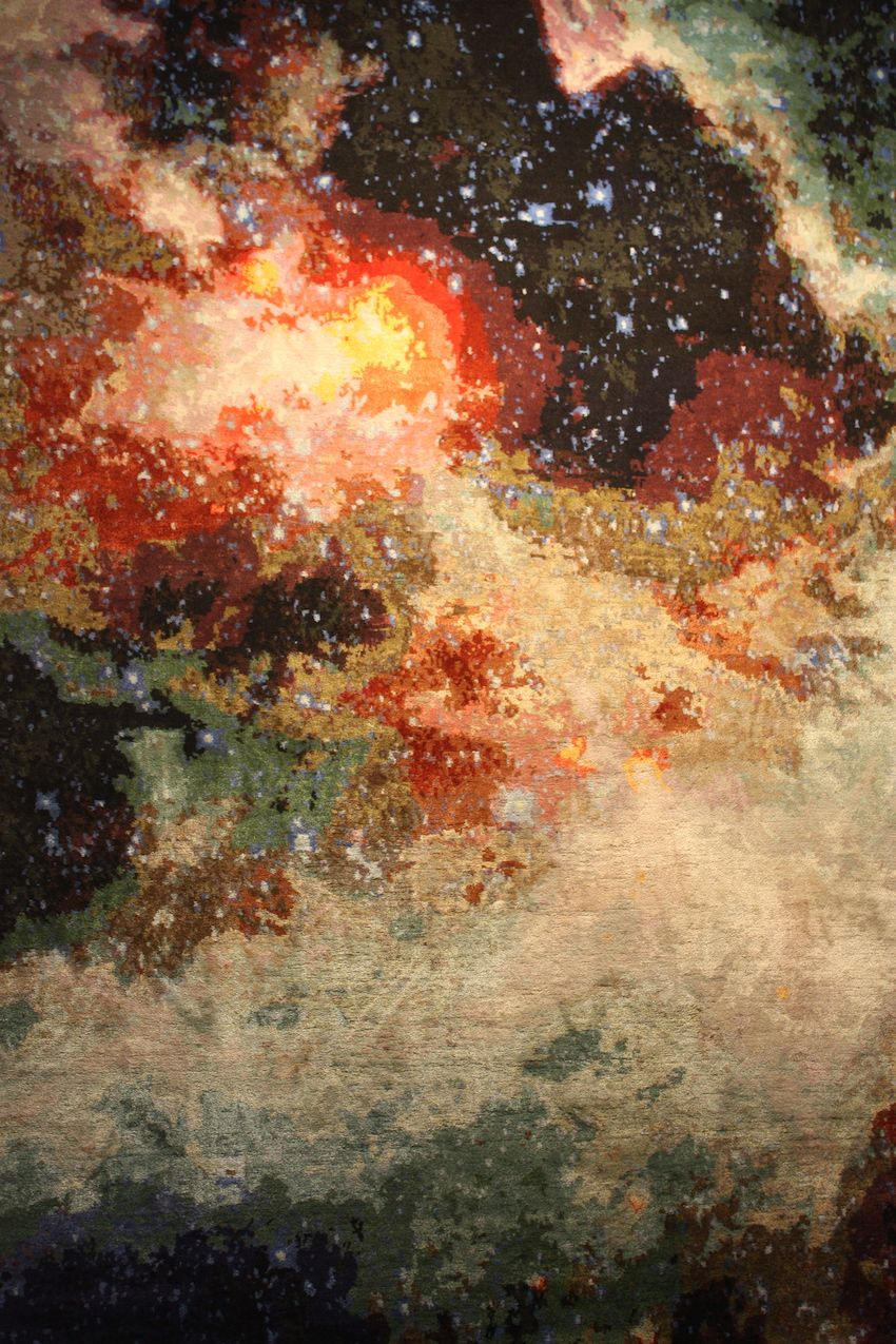 Inspired by space, Kath's rugs are wall-worthy art as well as floor coverings.