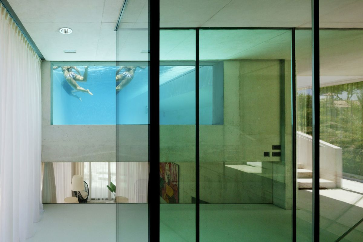 Jellyfish House Interior Pool View Wiel Arets Architects