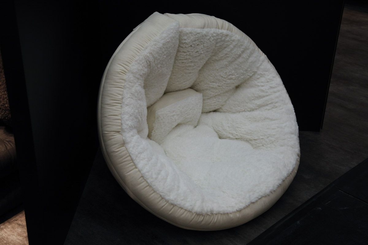 The Nest chair in comfy sheepskin effect finish