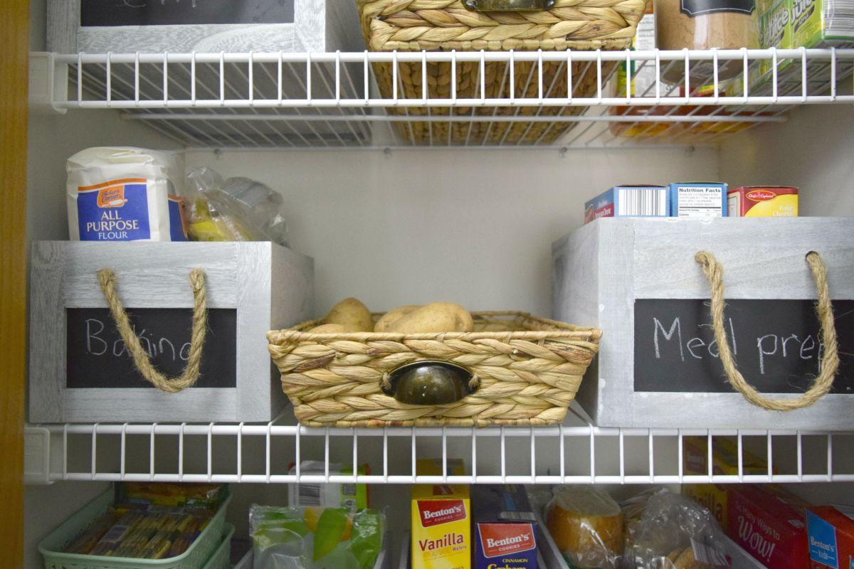 Kitchen meal prep shelf