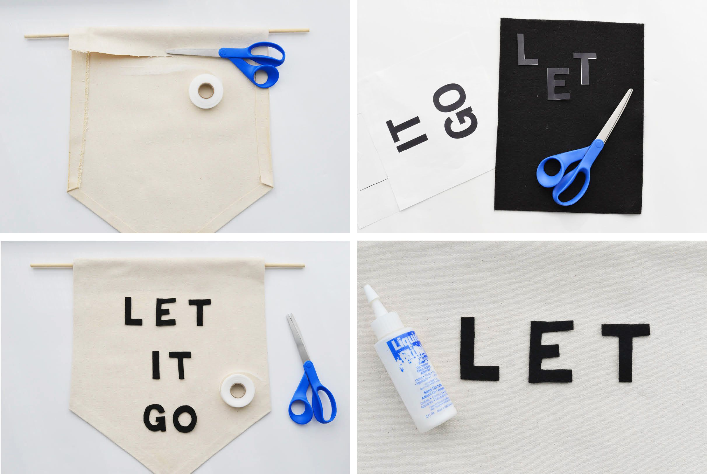 Let it go banner instructions