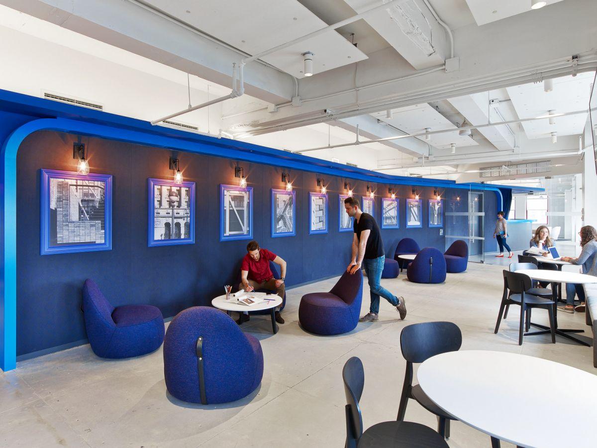 LinkedIn New York Office cafe space
