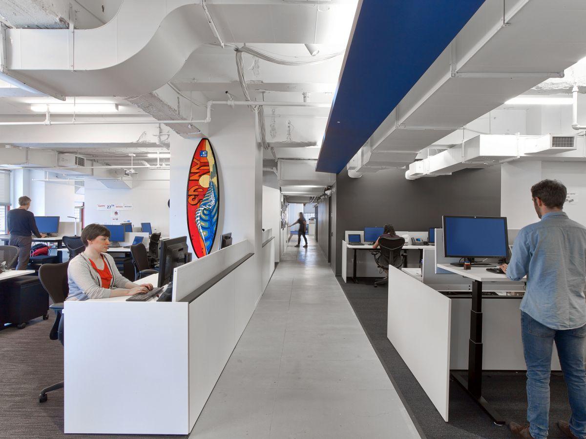 LinkedIn New York Office height adjustable desks